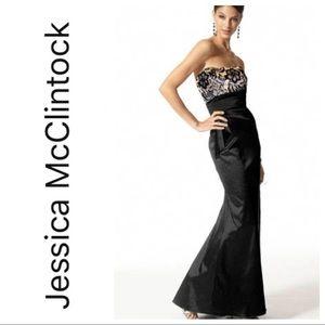 NWT Jessica McClintock Strapless Lace Gown sz 8